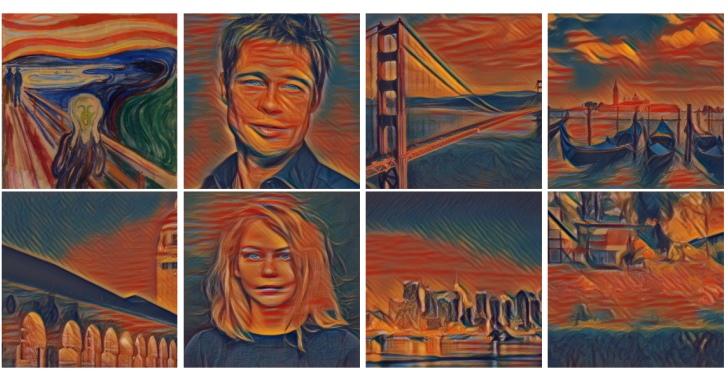 研究團隊利用 AI 模仿藝術大師,瞬間將任何照片變成名作風格