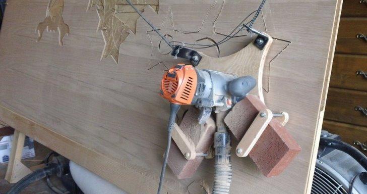 簡易型懸掛式Maslow CNC,輕鬆切割任意形狀木板