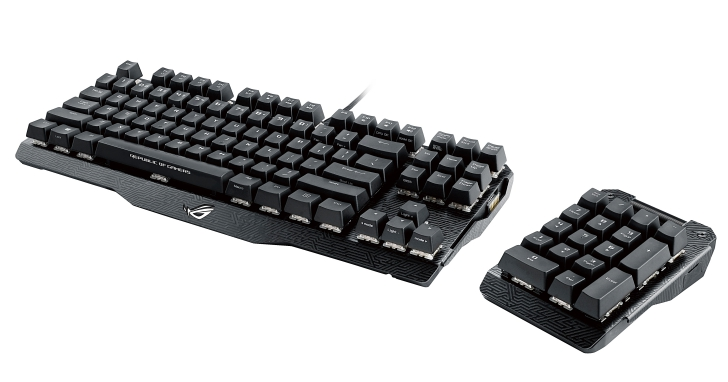 ROG Claymore新推機械式電競鍵盤,數字鍵採分離式設計