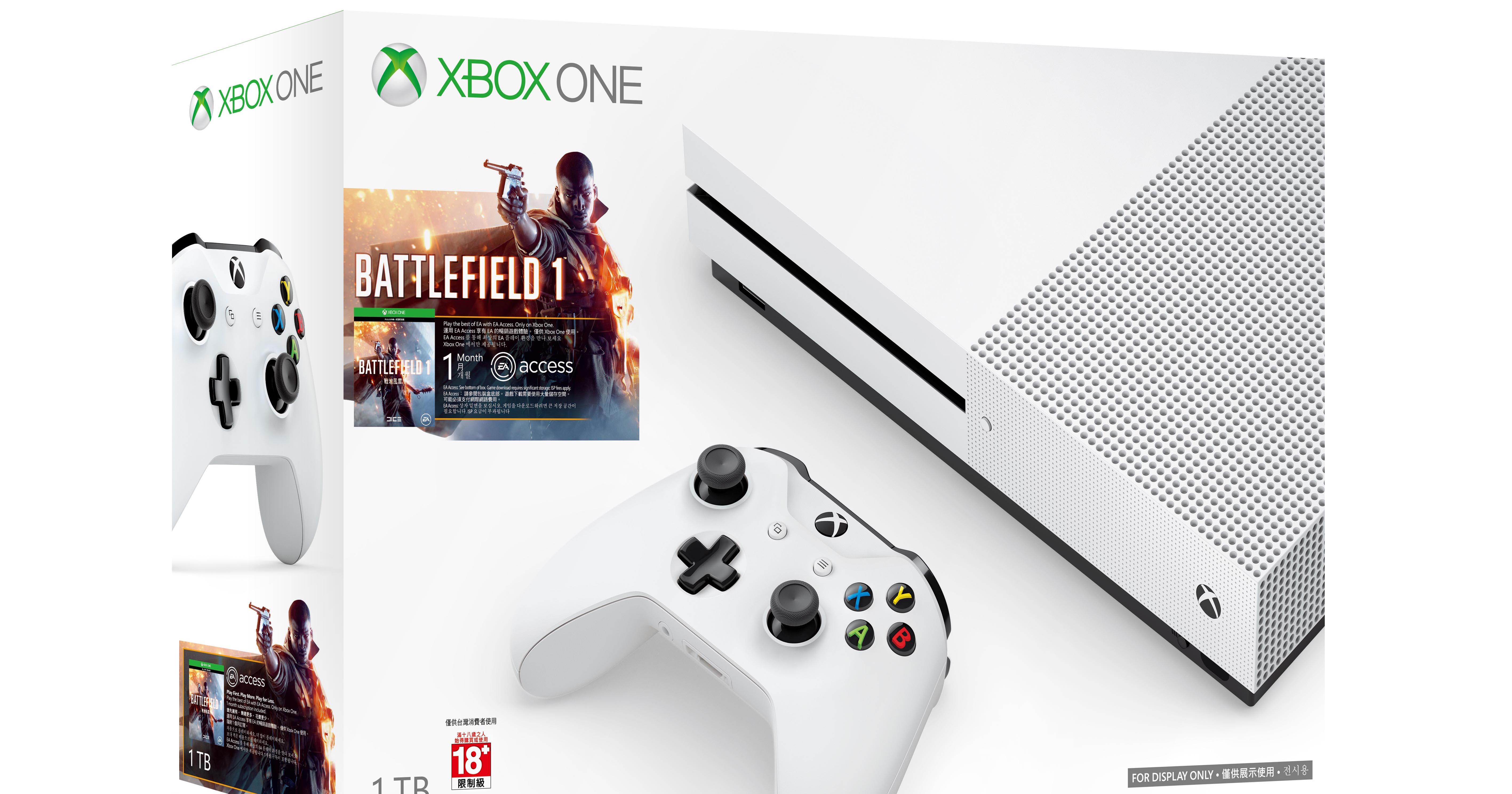 Xbox One S 1TB《戰地風雲1》同捆組開放預購,11/25在台上市