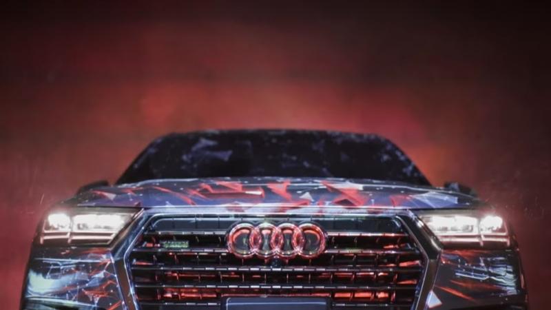用20,000流明的投影機取代電腦後製特效,Audi 廣告這些酷炫效果全是現場直接拍下來的!