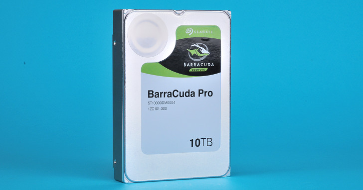 桌上型硬碟邁入 10TB 世代,Seagate BarraCuda Pro 10TB 實測