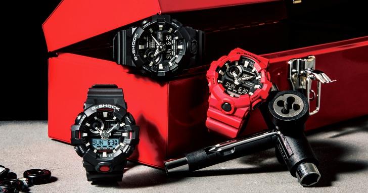 強悍黑紅經典再現,Casio 推出 G-SHOCK GA-700 錶款