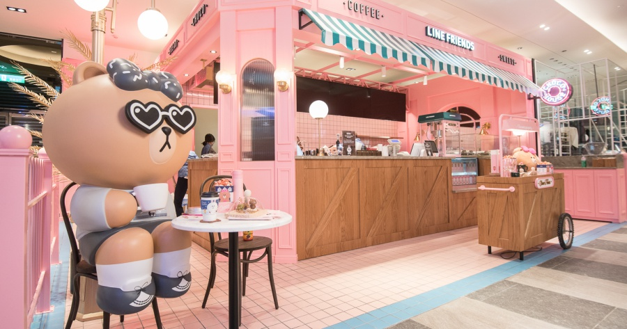 LINE FRIENDS Cafe & Store 進駐信義新天地 A11 館,可買 LINE 商品和外帶咖啡