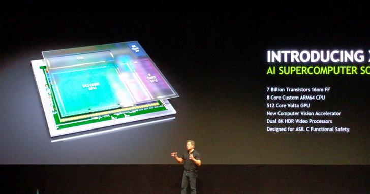 NVIDIA於CES發表全新XAVIER自動駕駛晶片,與奧迪合作打造AI汽車