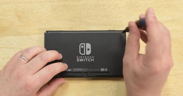 任天堂Switch拆解:內部元件並不複雜,好拆程度為8分