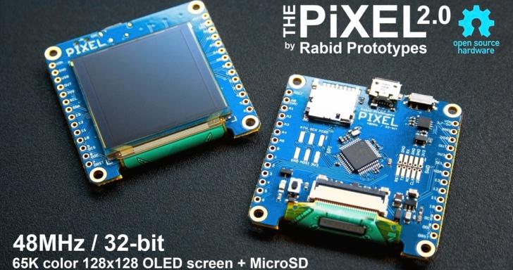 具備螢幕的Pixel 2.0開發板,打造智慧型手錶也沒問題