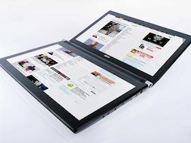 Acer ICONIA:14吋雙螢幕觸控筆電上市