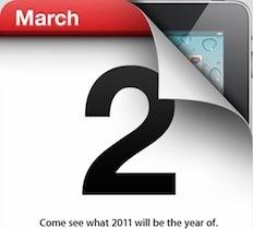 Apple iPad 2 Event 轉播就在今晚2點