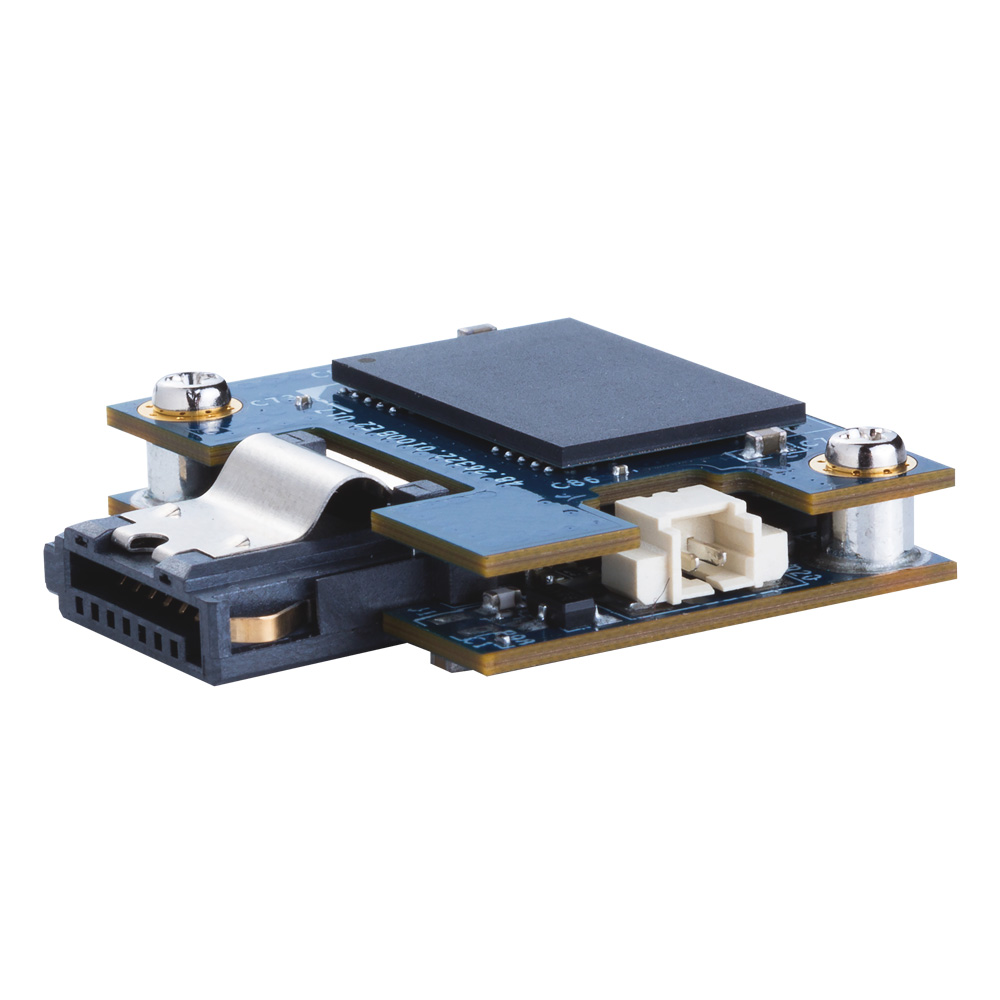 宇瞻科技於Embedded World 2017發表SDM7-M DP創新雙板微型固態硬碟,Multi-PowerPath隨插即用,專利技術無線供電。