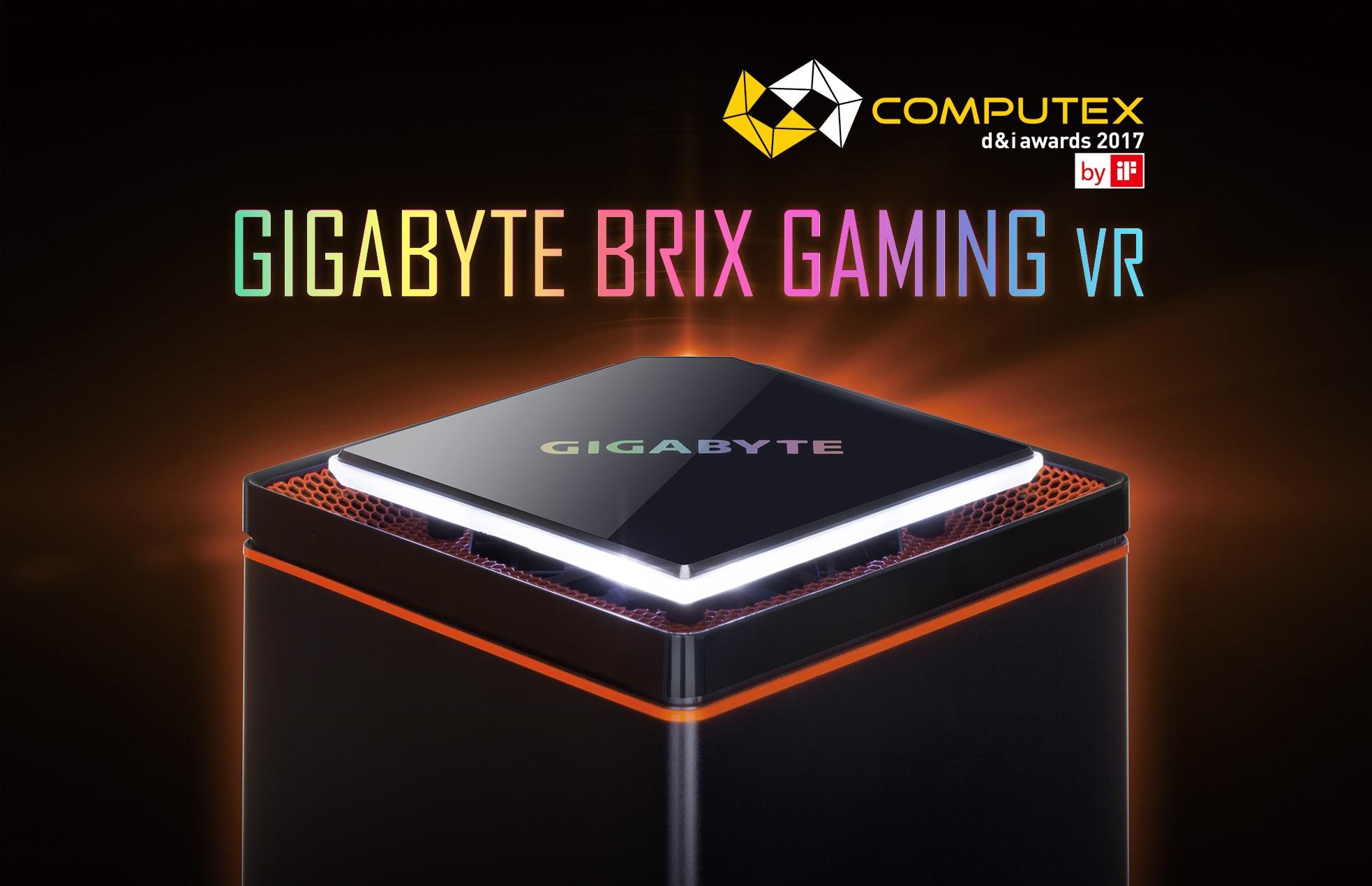 技嘉BRIX GAMING VR榮獲COMPUTEX d&i awards 2017肯定,於全球255個參展產品中脫穎而出,展現技嘉產品設計實力!