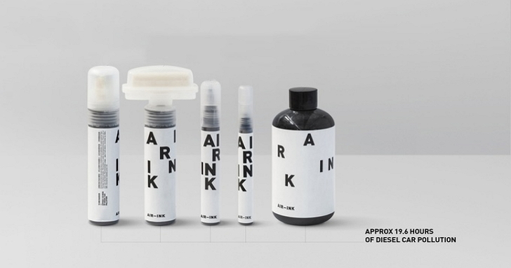 汽車廢氣變墨水?空污藝術新經濟 Air-Ink