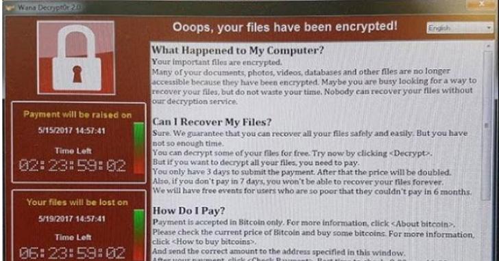 付300美元才能解鎖,WanaCrypt0r 2.0勒索病毒於24小時內全球大爆發