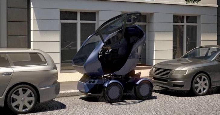 這台智慧小汽車竟然能「伸縮」,以後不用擔心找不到停車位了