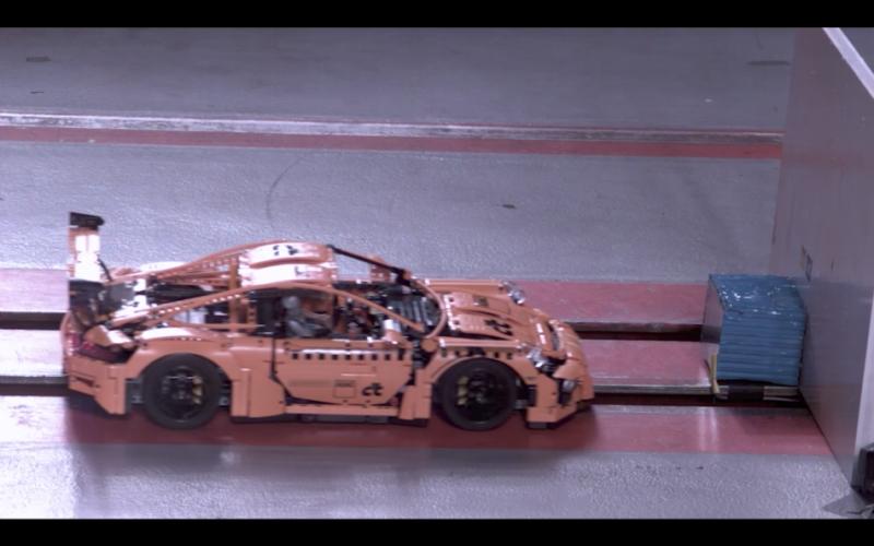 Porsche 911 GT3 RS「樂高版」也接受撞擊測試?看完只能說相當療癒!