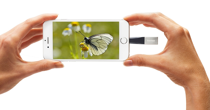 WD 推出專為 iPhone 及 iPad 設計的 SanDisk iXpand Mini 隨身碟
