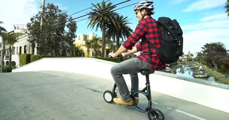 時速可達20公里的電動單車Smacircle S1,折疊後還可裝入背包