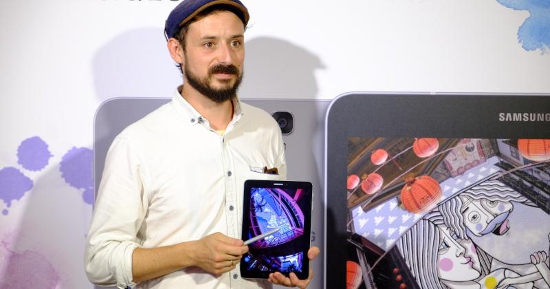 把天空當畫布,法國藝術家用三星 Galaxy Tab S3 畫遍全台灣