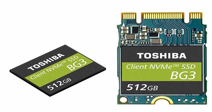 東芝宣布推出 單一封裝NVMe™客戶型固態硬碟 搭載64-LAYER 堆疊技術及3D快閃記憶體