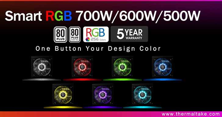曜越全新電競專用Smart RGB電源供應器系列 500W/600W/700W 高品質.超值價