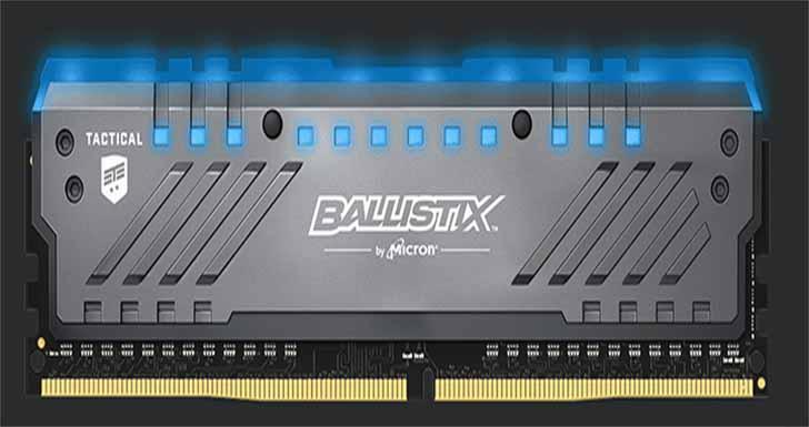 Ballistix 發表 Tactical Tracer DDR4 RGB 電競記憶體模組 電腦改裝高手與電競玩家可提升遊戲體驗及效能並增加個人化裝備風格