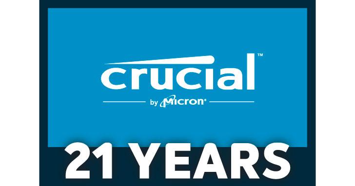 【得獎公布】Crucial 21 週年感恩回饋大方抽!快來留言分享,有機會帶走 Crucial & Ballistix 超優質 SSD 跟記憶體!