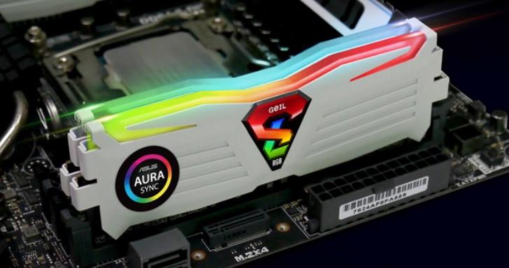 GeIL DDR4 SUPER LUCE 換新裝,RGB SYNC 系列相容 Asus Aura Sync