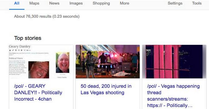 Google並非永遠都是對的!新聞演算法被誤導,意外無辜者列為拉斯維加斯槍擊事件槍手並置頂
