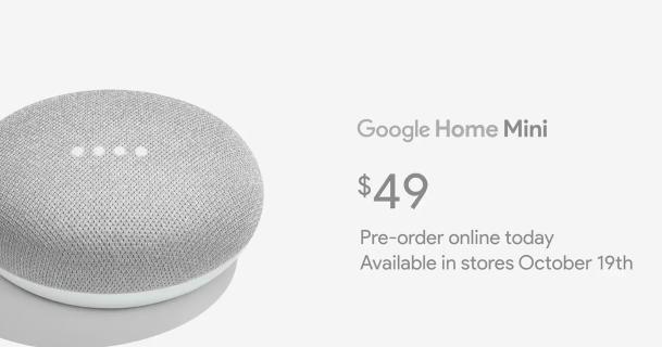 Google Home 加入兩名新成員,輕巧的 Google Home mini 和強調音效的 Google Home Max