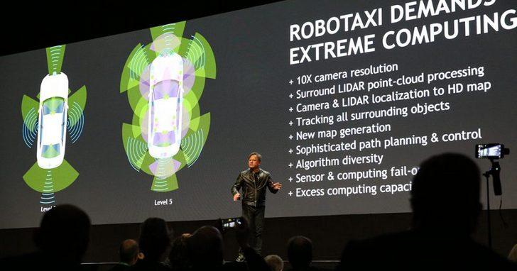 NVIDIA發佈全球首款AI自動駕駛平台,瞄準「Level 5」級自動駕駛汽車