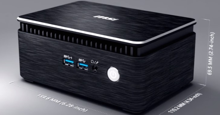 MSI 迷你電腦更新,Cubi 3 Silent 使用 Kaby Lake-U 與被動散熱設計