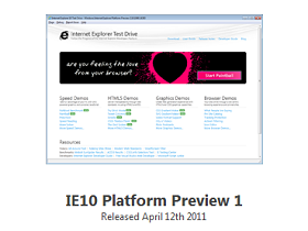 IE10 Platform Preview 預覽版現身