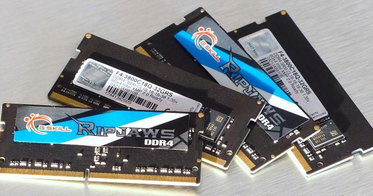 三星 B-die 與自家調校技術結合,G.SKILL DDR4-3800MHz 32GB SO-DIMM 記憶體實測