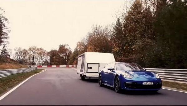 「掛渦輪」跑紐柏林不夠厲害,Porsche Panamera Sport Turismo「掛上拖車」依然飛快