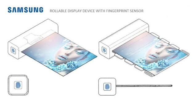 超酷!三星申請捲軸式摺疊螢幕,還具備螢幕指紋辨識功能