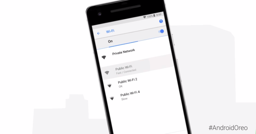Android 8.1 調整 WiFi 顯示新功能:你可以未連線前先知道各個 Wi-Fi 的連線速度