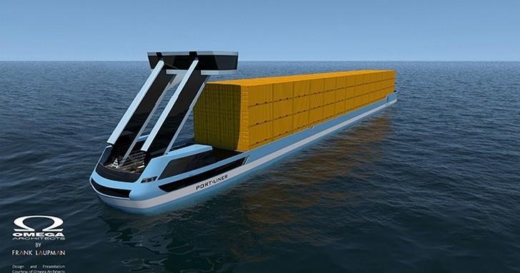 號稱「運河界特斯拉」,無人電動貨櫃駁船艦隊今夏首航