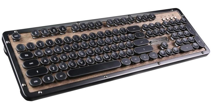 Azio推出Retro Classic BT復古風藍牙機械鍵盤,充電1次撐1年