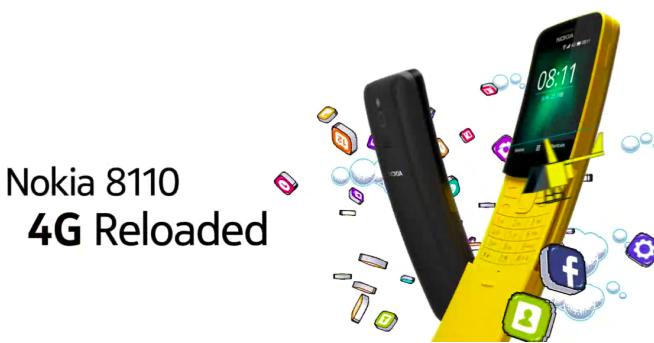 香蕉機回歸,Nokia 復刻 8110!支援 4G 上網