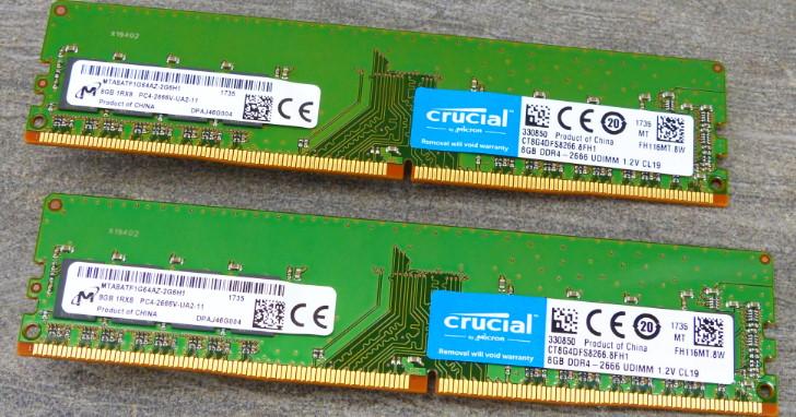 原生 JEDEC 標準免超頻,Micron Crucial DDR4-2666 8GB 記憶體測試
