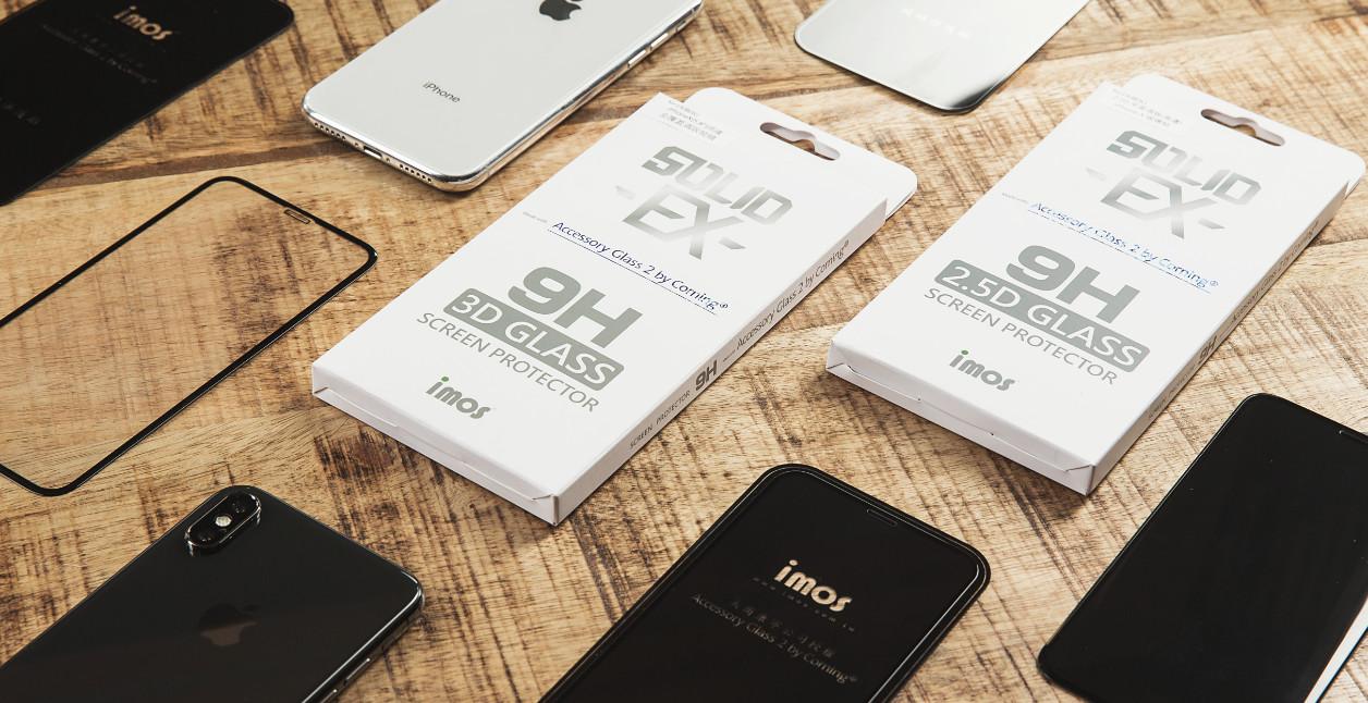 保護貼入塵?imos 推出新版 iPhone X 「美觀防塵」滿版玻璃保護貼!完全解決前鏡頭孔位入塵問題。