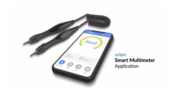 三用電錶也走智慧風,能與手機連線的Vion更輕更方便