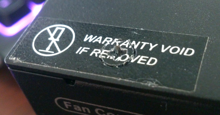 美國 FTC 警告保固除外條款非法,易碎保固貼紙的末日來臨?