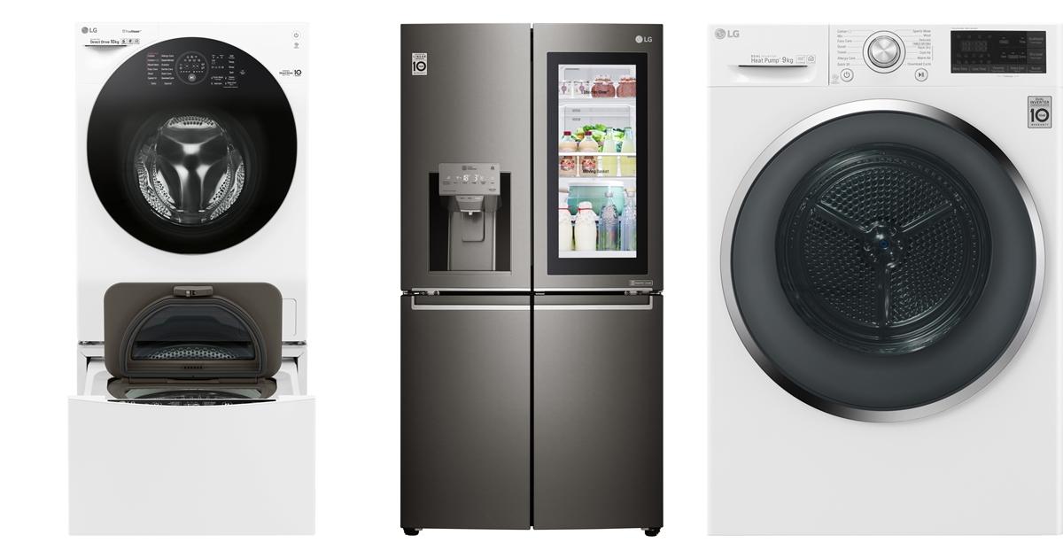 LG 家電產品線更新,InstaView 多門冰箱、24 吋乾衣機、上下 TWINWash 小容量洗衣機