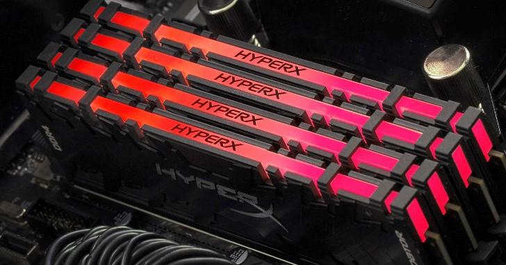 使用紅外線同步技術,Kingston 推出 HyperX Predator DDR4 RGB 記憶體模組