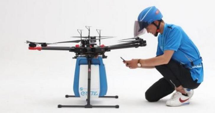 中國批准首批外賣無人機航線,從下單到門口取貨僅需20分鐘
