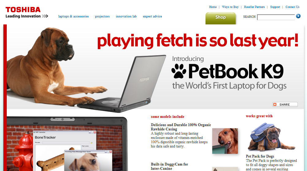 Petbook,寵物專用筆電?!