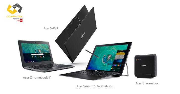 宏碁產品奪Computex 2018七項大獎,Chromebook 11更獲創新設計「金質獎」 | T客邦