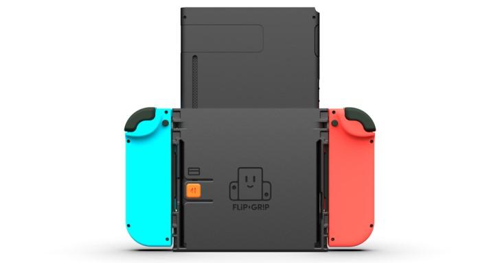 任天堂Switch強硬站起來!Flip Grip讓主機能夠垂直手持與站立
