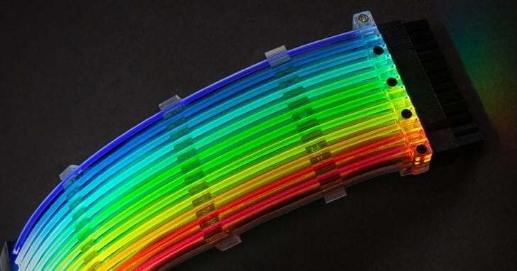 Lian Li 絕美 Strimer 開始預購,替 ATX 24pin 加上可定址 RGB LED 燈光效果